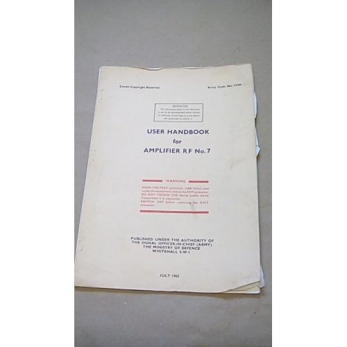 LARKSPUR USER HANDBOOK AMPLIFIER RF NO7